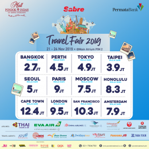 PIM, SABRE, Permata Bank TRAVEL FAIR 2019